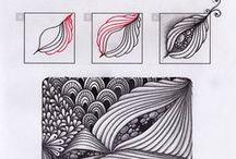 Tangle patterns / Vzory a postup jejich kreslení pro obrázky Zentangle