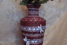 papírfonás-vázák