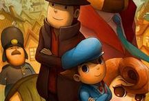 Professor Layton (2007) / I'm not a big fan of professor Layton, I like the Phoenix Wright series better. I think Layton's constant puzzles get annoying after a while.