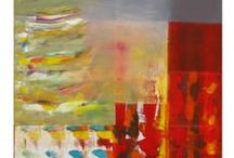 "Hooshang's Abstracts / ""For me, 'abstract' is a feeling that finally turns into a form - a form that flows. I paint in layers, adding texture, but it's as if the paint itself takes part in the creative process. I'm the tour guide on the journey, but there's another participant:  My hands are virtually channeled into a universal source of energy. And that energy, in turn, pulses through my brushes and artist tools."""