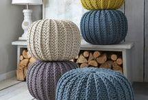 Crochet, knit puff