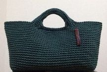 Crochet, knit bags