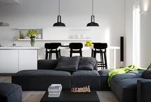#Black and white interiors