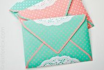 E N V E L O P E S / ideas, diy and printables for envelopes