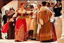 Costumi Cavalleria, Traviata e Ballo in maschera, Stagione lirica Politeama, Lecce