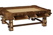 The Game Room / Gaming tables, rooms, shelves, storage, doors, paint, decor.