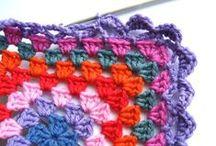 C R O C H E T ☞ granny squares / crochet granny squares and apliques