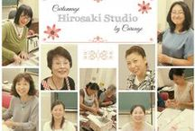 Students ♡ Carouge / Lovely students making cartonnage at Atelier Carouge :) 大事な受講生の方々です♡