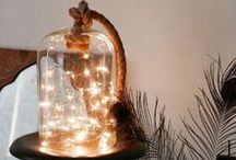 DIY Decorative Lighting / Lighting can be fun! Play with all sorts of ideas to get the look you want!