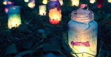 Mason Jar Luminaires DIY / Recycle jars into fabulous decorative lighting. Personalize your own look!