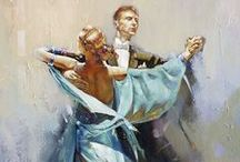 The art of dance in painting