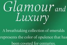 Glamour and Luxury / Collection of Exquisite Emeralds with diamonds