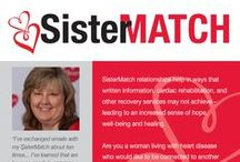 WomenHeart's SisterMatch / Don't live near a WomenHeart Support Network? Connect with a WomenHeart Champion by phone or email through SisterMatch!  http://www.womenheart.org/?page=Support_SisterMatch / by WomenHeart