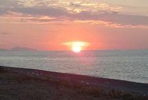 Paesaggi / Panorama dello stretto di Messina.