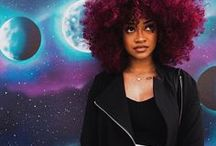Cabelos Coloridos Afro / Inspirações de Cabelos Afro coloridos