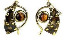 Metal Brass Earrings - African Tribal Earrings Jewelry / Handmade brass earrings from Africa | Gift for her | Gift for mom | Gift for mother | Gift for girlfriend | Dangle Earrings | Drop earrings | Dangle Earings | Drop earings | brass earrings hammered | Metals Products | Boho | Copper | Bohemian | Vintage | Rustic | Africans