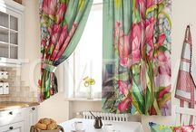 Kitchen curtains / Кухонные шторы на любой фасон и цвет