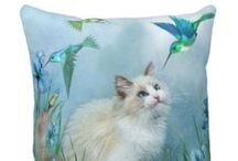 Cat Themed Pillows / Cat Cushions & Kitty Throw Pillows - Home Decor At It's Furriest!