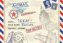 Βάπτιση Airmail / Μία vintage boy βάπτιση με θέμα τα ταχυδρομικά αεροπλάνα