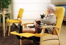 Les chaises et fauteuils de détente  / Ce tableau réunit tous les fauteuils et chaises de détente à destination des EHPAD, des maisons de retraites... Vous y trouverez des fauteuils fonctionnels, inclinable, facile d'utilisation...