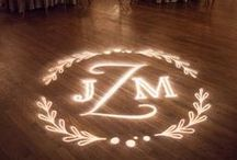 Custom Gobo Ideas / Design and Typography inspiration for monogrammed lighting, monogrammed dance floors, etc - Custom Design available from Bright Event Productions for your Wedding or Event, http://brighteventproductions.com