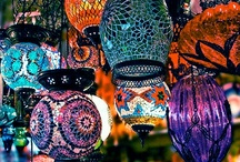 Gypsy Themed Events / Bohemian Inspired Wedding and Event decor - outdoor ceremonies, apothecary bottles, stain glass, head scarves, colorful patterns - curated by Bright Event Productions, http://brighteventproductions.com/