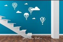 Planes Trains Automobiles / Fun decals for your child's room, game room or man cave!