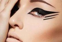 Graphic eyeliner  / Graphic liner. Geometric. Art.