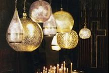 The Golden Age / Gold and glam lighting and event design.