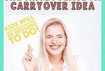 Articulation Carryover Ideas