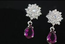 Radiance Collection / Exclusive Persian Inspired Earring Collection: Hand Set Cubic Zirconia in 925 Sterling Silver