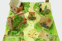 Pop up houses - carousel book