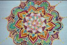 jedwabne mandale / Jedwabne chusteczki bransoletki z motywem mandali. Malowane od serca  przynoszą szczęście.