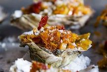 Oysters / We can get all kinds of live oysters.  We usually have about four different kinds at a time.  We can order around 40-50 different types each day, so if you are looking for something specific ask to see if it is available.  We also carry an already shucked oyster too.