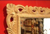 Cornici artigianali e specchi / Alcune delle produzioni del nostro laboratorio di cornici artigianali. Dai quadri agli specchi, diamo il giusto rilievo a tutti i vostri ricordi. Per informazioni: www.galleria-galp.it