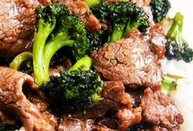 Beef dishes.
