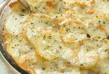 Potato dishes.