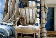 Fabric Inspiration / Furniture upholstery, accessories and window treatments