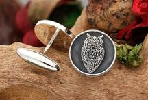 SILVER CUFFLINKS / Personalised Laser engraved silver cufflinks, bespoke designs handmade in the UK.