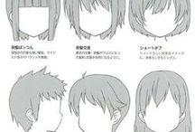 аниме голова/волосы