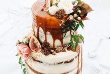 'Semi-naked' wedding cakes
