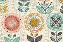 BEAUTIFUL PATTERNS & WALLPAPERS | MUSTER & PRINT-DESIGNS / Design und Entwürfe für tolle Muster, Textildrucke und Zeichnungen für Patterns