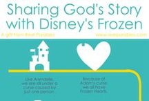 """Sharing God's Story with Disney's Frozen / This board is all about sharing God's story with Disney's Frozen. Frozen is far more than just another Disney Princess movie. Frozen is a """"reel parables,"""" a movie that tells God's story. Look around and learn how to share God's story with Disney's Frozen!"""
