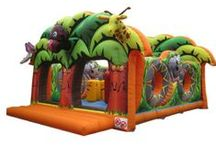 Multiplay Bounce Houses / Airquee's multiplay range consists of two main categories. Enclosed mutiplay and open multiplay. Enclosed multiplay products nearly always have walls and a roof whereas open multiplay products normally have no roof and sometimes fewer walls or no walls compared to a traditional bouncy castle. / by Airquee Inflatables Limited