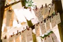 wedding escord - place cards / by Tanja Christ