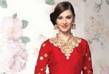 Indian Styles Cream Heavy Neck Anarkali Suits / CELEBRITY: Kriti Sanon BLOUSE FABRIC: Dhupian STYLE: Designer Saree FABRIC: Georgette WORK: Lace Work COLOUR: Peach OCCASION: Party, Festival CATALOG NO.: Bollywood Replica-5