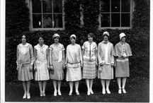1920's Skirts / In the same way as the blouses, skirts followed a similar look as dresses. From 1919 to 1929, the most fashionable shape was straight and knee length, hiding women's curves through loose waists and sashes around the hips.