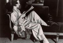 1920's Pyjamas & Women's Pants / Even though it was not acceptable for a woman to wear trousers, except for practising sports, in 1922 Paul Poiret showed pyjamas as 'original attire for the hours of deshabille'.
