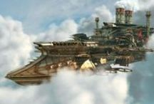 vehiculos y artefactos Steampunk / un viaje a un mundo fantastico y bizzarro