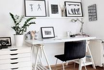 Decor of home office / You invest many important hours of your life in that room - why not make it into your favourite room?